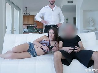 Spoiled stepsister Victoria Vixxen is eager for hard and big dong