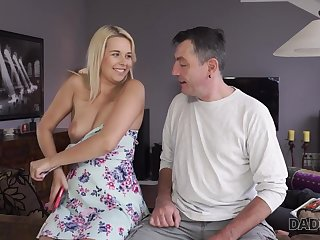 DADDY4K. Daddy fucks mouth and hoochie-coochie of brilliant son's