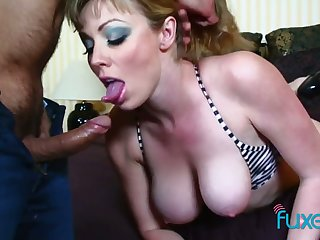 Dirty busty hooker is face fucked before hardcore pussy pounding scene
