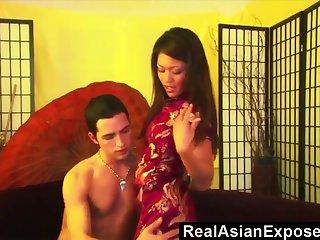 Filipino Charmane Star takes cumshot on her yummy anal hole doggy style