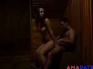 Damn! Excellent Fuck In Sauna!