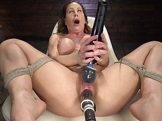 Fucking machine mature hard porn with premium DeVille