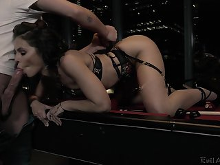 Spoiled chick Adriana Chechik gets fucked and jizzed by one kinky client