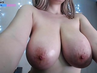 Amazing HUGE Tits - young big naturals on webcam