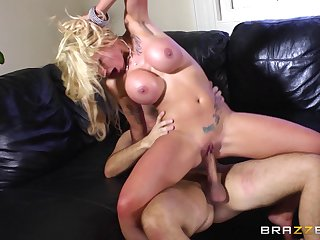 Blonde slut Candy Sexton loves to be fucked by a massive cock