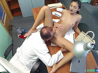 Hidden camera at the hospital records brunette Shrima Malati