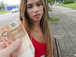 Girl gets paid good cash to fuck on cam and swallow jizz