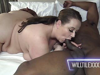Jessica Lust pleased ebony BF with pussy fuck
