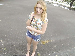 Hot Big Ass Blonde Teen Paid Cash To Fuck Stranger POV