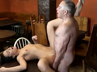 Teen plays with dildo and horny cheating mature wife Can