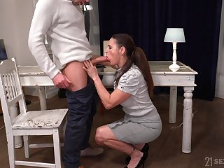 Still not bad looking mature whore Mariana is fucked darn great by stud