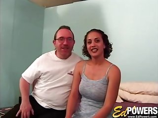 Older guy gets lucky and slides his dick in wet pussy of Pepper