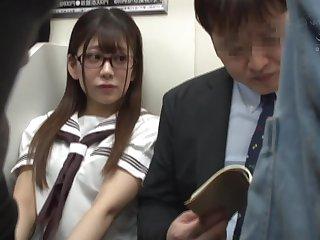 Japanese schoolgirl public fucking in metro