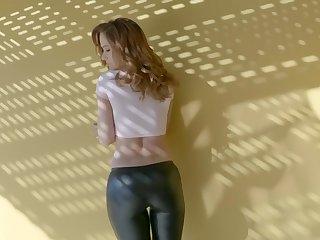 Busty pornstar Sabrina Cyns gets fucked in the kitchen + facial