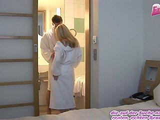 Blonde teen girl try anal in hotel
