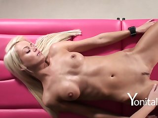 Youthfull All Girl Brown-Haired Gives A Wonderful Ejaculation To Posh Straight Blondie