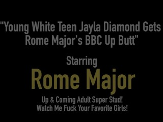 Youthful milky teenager Jayla Diamond Gets Rome Major's chunky black cock Near bum freesex
