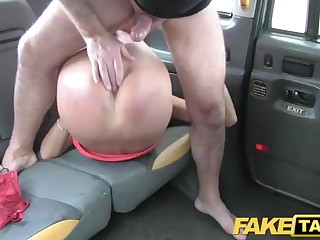 Tall dark-haired got into a faux cab and concluded to humped, in the around be useful to it
