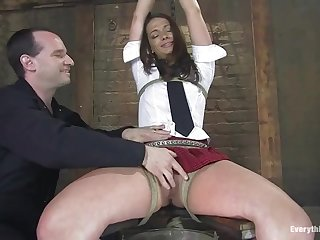 Teen Babe Gets Tied And Abused - ANALDIN