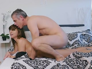 Young Riley Reid fucked from behind by an older guy