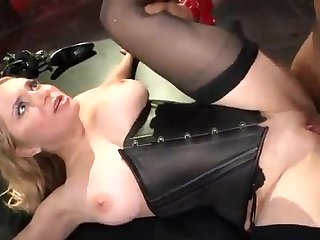 This blond hair lady likes domination - brutal sex