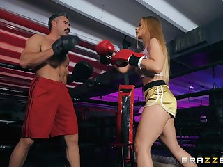 after a match Sloan Harper wants to fuck with her handsome partner
